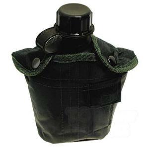 Poľná fľaša US MFH® 1 l v nylonovom puzdre - olív (Farba: Olive Green )