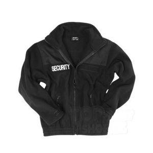SECURITY fleecová bunda Mil-Tec® - čierna (Veľkosť: S)