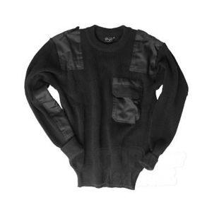 Vojenský sveter - pulóver BW Acryl Mil-Tec® - čierny (Farba: Čierna, Veľkosť: S)