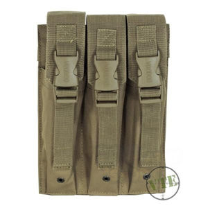 Trojité puzdro MP5 Mag Pouch Voodoo Tactical - coyote