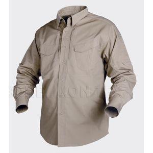 Košeľa DEFENDER Helikon-Tex® s dlhým rukávom - khaki (Veľkosť: XL)
