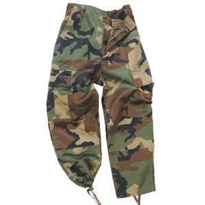 Detské nohavice US BDU Mil-Tec® - woodland (Farba: US woodland, Veľkosť: M)
