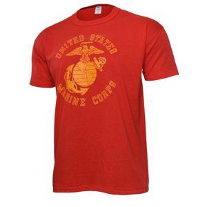 Pánske tričko USMC Pentagon® - červené (Veľkosť: XXL)