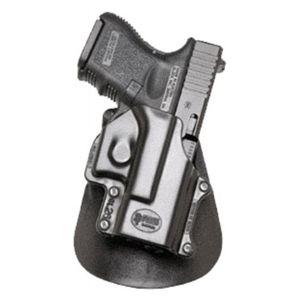 Pistolové pouzdro FOBUS® GL-26 EX BH stehenní s opaskovým průvlekem na pistoli Glock