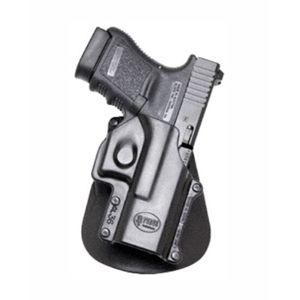 Pistolové pouzdro FOBUS® GL-36 LH EX BHP stehenní s opaskovým průvlekem na pistoli Glock - pro leváky