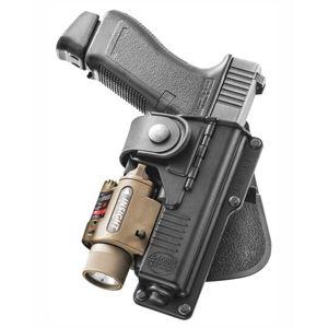 Pistolové pouzdro FOBUS® RBT17G EX stehenní s pádlem na pistoli Glock