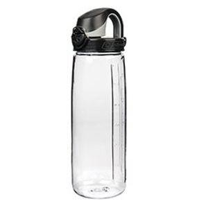 Poľná fľaša Nalgene® OTF - číra (priehľadná) s čiernym vekom (Farba: Číra, Varianta: s černým víkem)