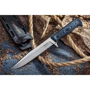 Nôž s pevnou čepeľou Kizlyar SUPREME® Intruder 440C - modrý (Farba: Modrá, Varianta: stříbrná čepel – Satin)