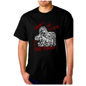 Dámske tričko SAGEAR® Don´t Try to Run - čierne (Farba: Čierna, Veľkosť: XXL)