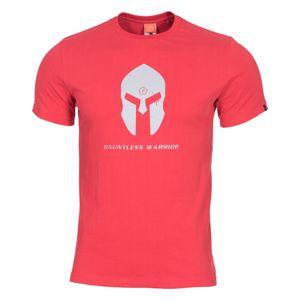 Pánske tričko Pentagon® Spartan Helmet - červené (Farba: Červená, Veľkosť: XL)