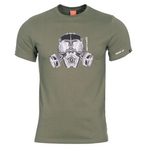 Pánske tričko PENTAGON® Gas mask   - olivovo zelené (Farba: Olive Green , Veľkosť: M)