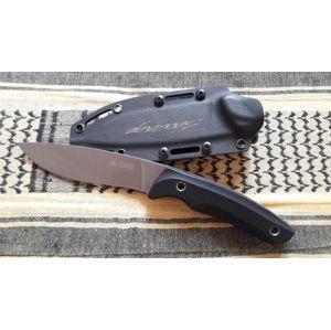 Nôž s pevnou čepeľou KIZLYAR SUPREME® Savage AUS 8 DSW - čierny - sivý (Farba: Čierna, Varianta: šedá čepel – Stone Wash)