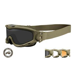 Taktické ochranné okuliare Wiley X® Spear Dual - khaki rámček, súprava - číre, dymovo sivé a oranžové Light Rust šošovky (Farba: Khaki, Šošovky: Číre