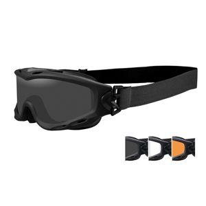 Taktické ochranné okuliare Wiley X® Spear - čierny rámček, súprava - číre, dymovo sivé a oranžové Light Rust šošovky (Farba: Čierna, Šošovky: Číre + D