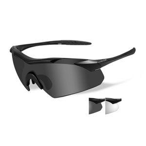 Strelecké okuliare Wiley X® Vapor, súprava - čierny rámček, súprava - číre a dymovo sivé šošovky (Farba: Čierna, Šošovky: Číre + Dymovo sivé)