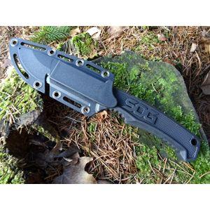 Nôž s pevnou čepeľou SOG® Field - satin, čierna rukoväť