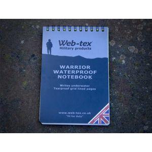 Vodovzdorný zápisník Warrior Web-Tex