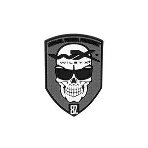 Nášivka Skull Wiley X® - šedá (Farba: Sivá)