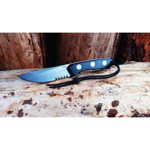 Nôž s pevnou čepeľou ANV® P200 s kombinovaným ostrím – čierna rukoväť, sivá čepeľ - Stone Wash + Kydex® puzdro (Varianta: šedá čepel - Stone Wash + Ky