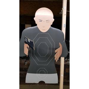 Kartónový terč muž s / bez zbrane Real Target® – Viacfarebná (Farba: Viacfarebná)