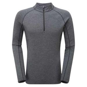 Zimné funkčné tričko Primino® 220 Zip Neck Montane® (Farba: Čierna, Veľkosť: M)