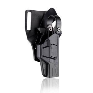 Pištoľové služobné puzdro Level III Glock G17 Gen5 / Gen4 Cytac® (Farba: Čierna, Varianta: ľavá strana)