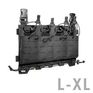 Predný panel na zásobníky M4 / G36 / PMAG / Steyr Tasmanian Tiger® L/XL – Čierna (Farba: Čierna)